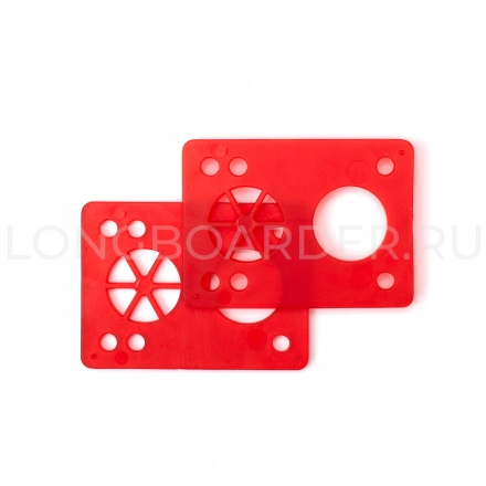 Шокпады для лонгборда Shock Pads - 1/8 (Red)